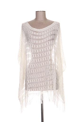 Pull tunique blanc HANNY DEEP pour femme