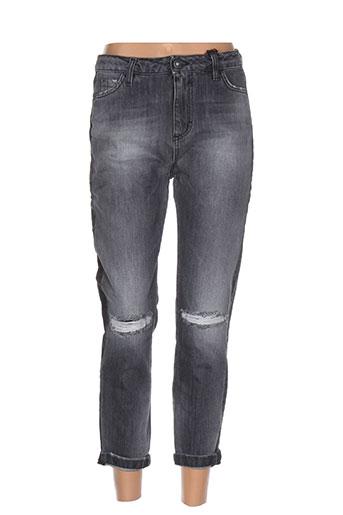 maryley jeans femme de couleur gris