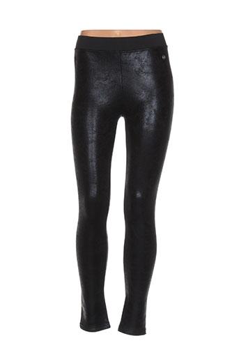 redsoul pantalons femme de couleur noir