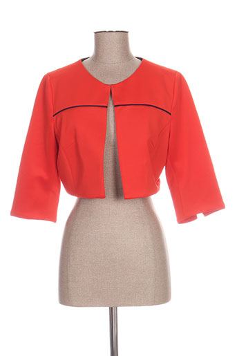 jus d'orange vestes femme de couleur orange