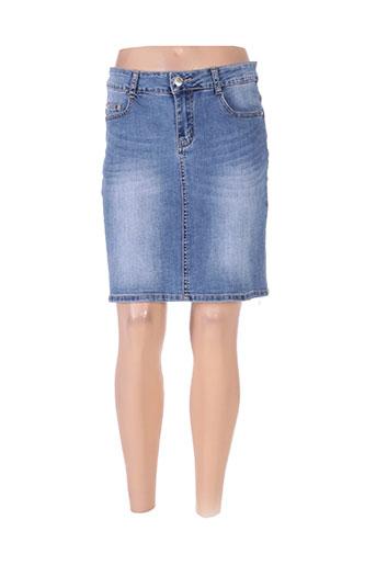 bs jeans jupes femme de couleur bleu