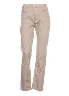 Pantalon casual beige GIRLS GENERATION pour femme