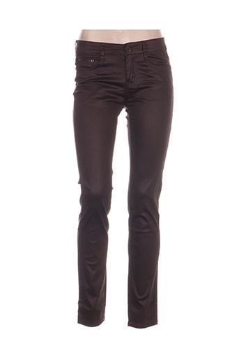 i dodo pantalons femme de couleur marron