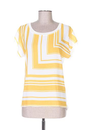 julie guerlande t-shirts femme de couleur jaune