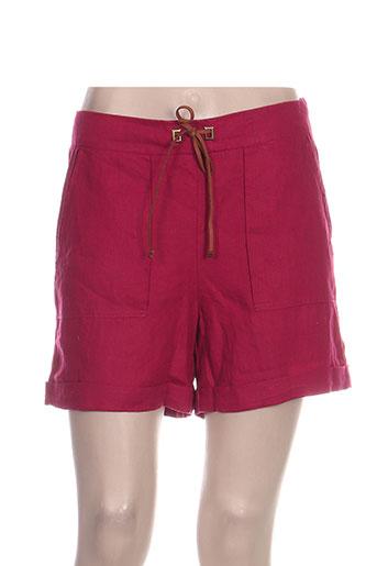 julie guerlande shorts / bermudas femme de couleur rose