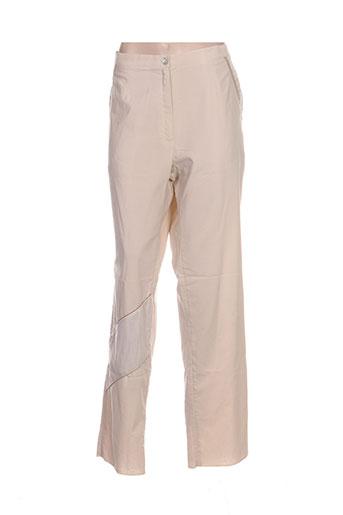 Pantalon casual beige GRIFFON pour femme