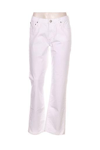 lee jeans femme de couleur blanc