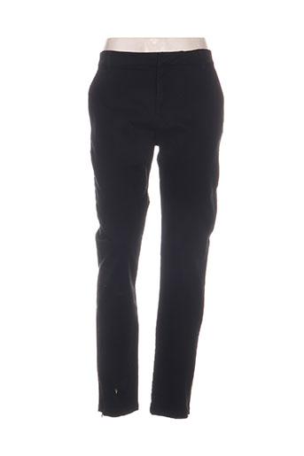 noa noa pantalons femme de couleur noir