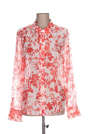 marella chemises femme de couleur rouge