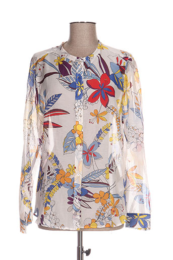 marella chemises femme de couleur blanc