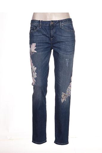 marella jeans femme de couleur bleu