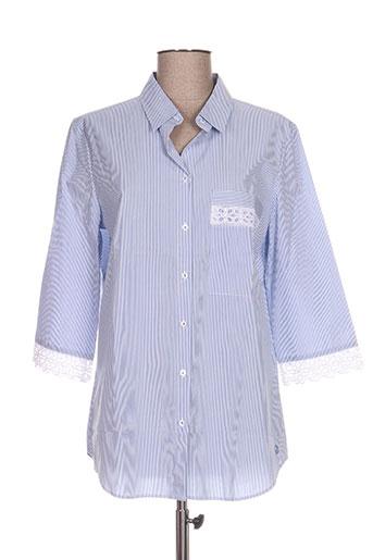 river woods chemises femme de couleur bleu