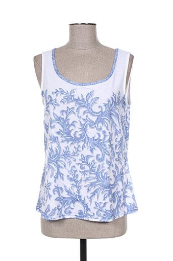 just white t-shirts femme de couleur bleu