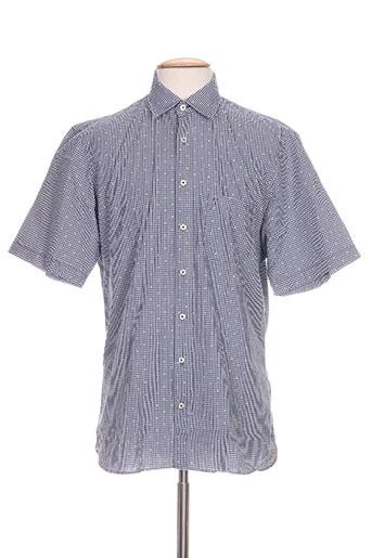 marvelis chemises homme de couleur bleu