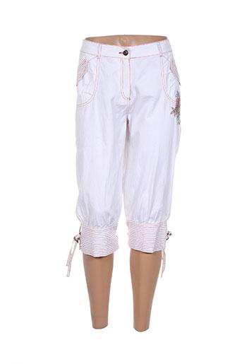 les fees du vent pantacourts femme de couleur blanc