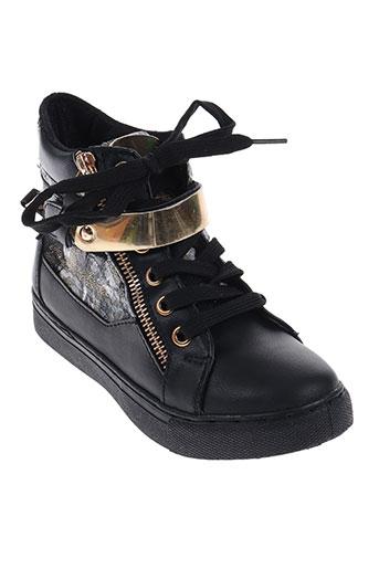 top shoes chaussures fille de couleur noir