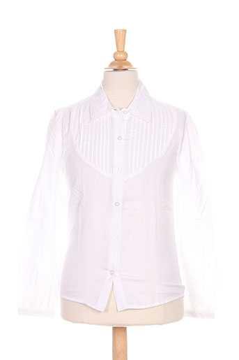 losan chemises fille de couleur blanc