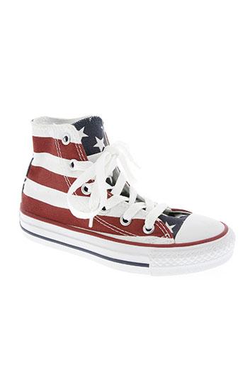 converse chaussures garçon de couleur rouge