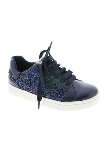 geox chaussures fille de couleur bleu