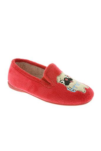 les p'tits oufs chaussures garçon de couleur rouge