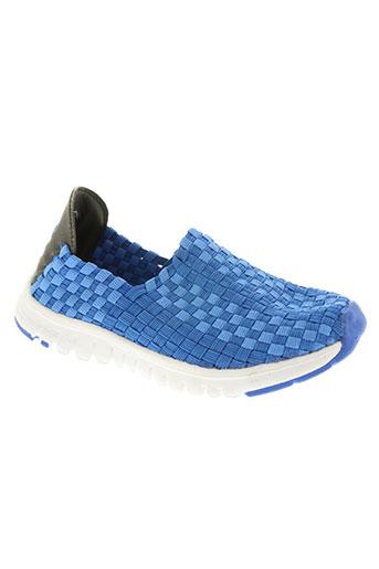 kilwox chaussures garçon de couleur bleu