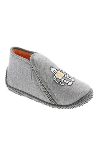 bulle de gomme chaussures garçon de couleur gris