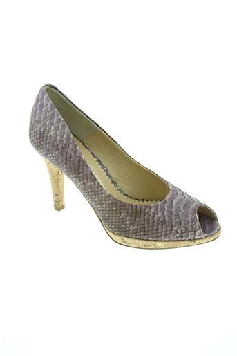 moda di fausto chaussures femme de couleur violet