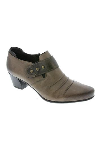 remonte chaussures femme de couleur marron