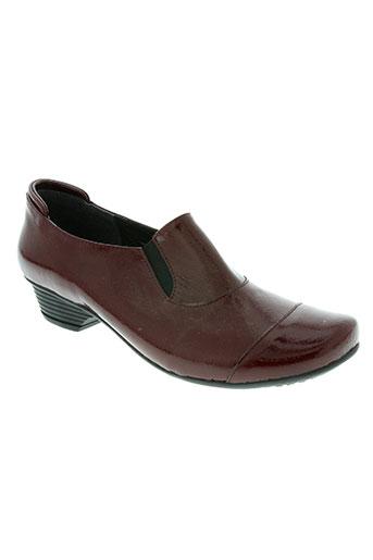pedi girl chaussures femme de couleur rouge