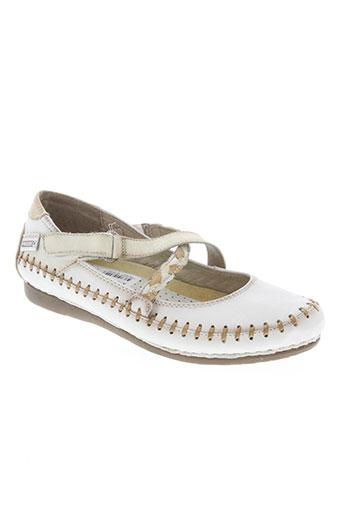 pikolinos chaussures femme de couleur blanc