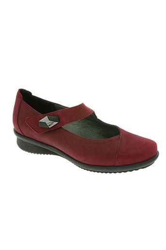 artika soft chaussures femme de couleur rouge