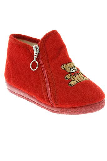 cienta chaussures fille de couleur rouge
