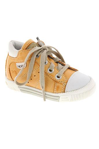noël chaussures garçon de couleur orange