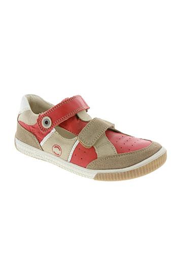 noël chaussures garçon de couleur rouge