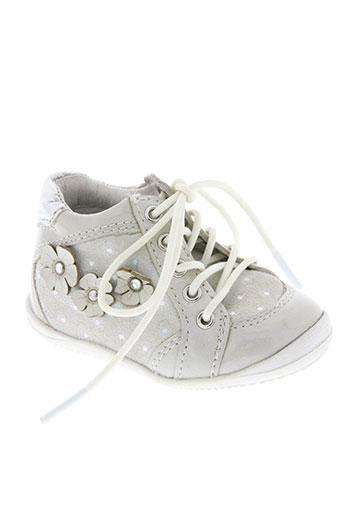 noël chaussures fille de couleur gris