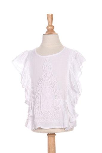 carrement beau chemises fille de couleur blanc