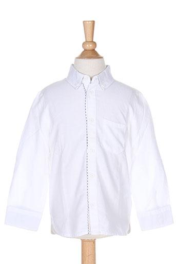 carrement beau chemises garçon de couleur blanc