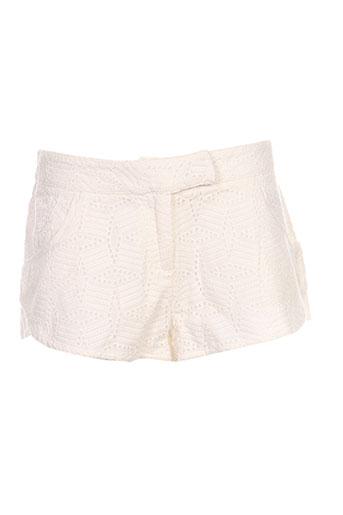 une fille shorts / bermudas fille de couleur blanc