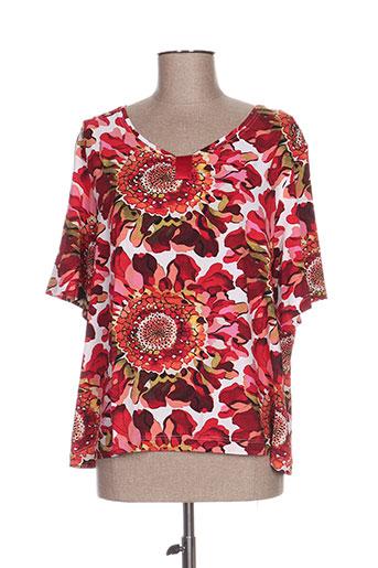 k'tendances t-shirts femme de couleur rouge
