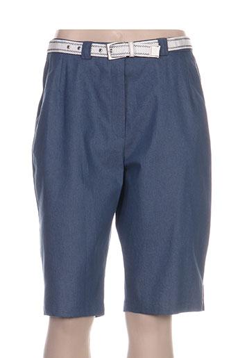 frank eden shorts / bermudas femme de couleur bleu