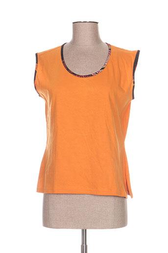 jean gabriel chemises femme de couleur orange