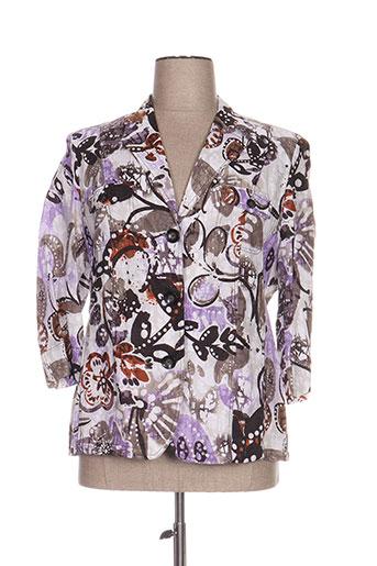 lebek vestes femme de couleur violet