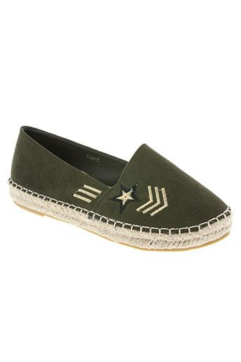 j&j shoes chaussures femme de couleur vert