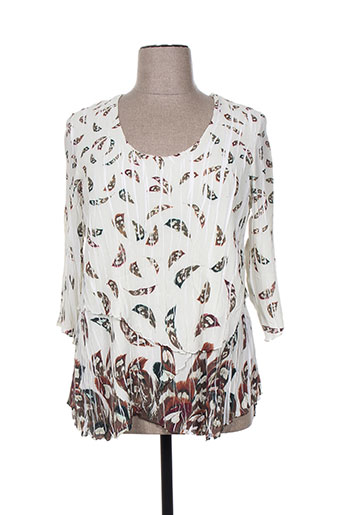 jean marc philippe chemises femme de couleur blanc