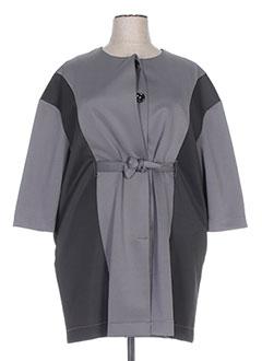 Manteau long gris OLIVIER WARTOWSKI pour femme