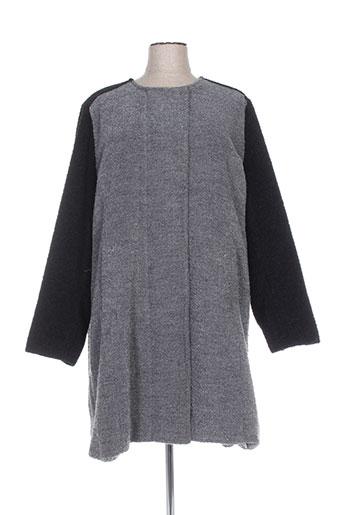 veto manteaux femme de couleur gris