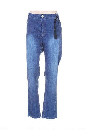 veto jeans femme de couleur bleu