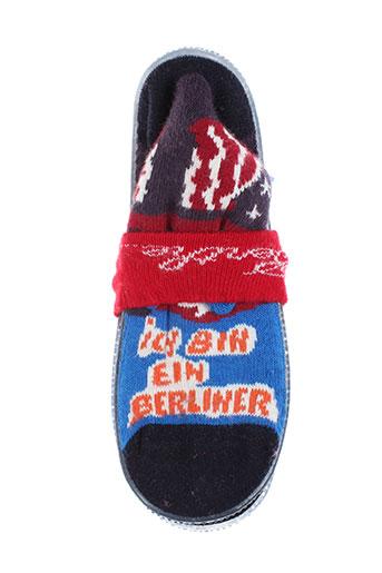 berthe aux grands pieds chaussures enfant de couleur bleu