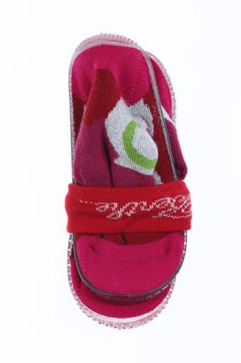 berthe aux grands pieds chaussures fille de couleur rose