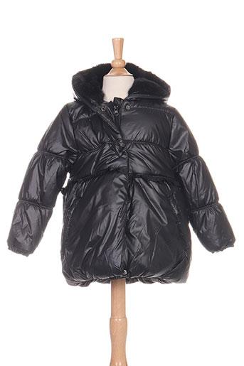 3 pommes manteaux fille de couleur noir